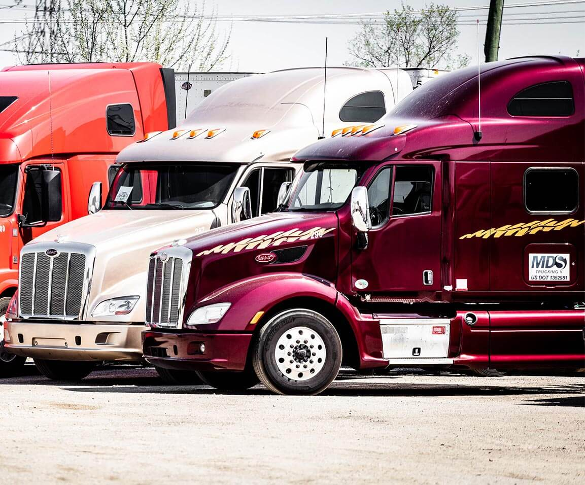 MDS Trucks Parked on the Yard