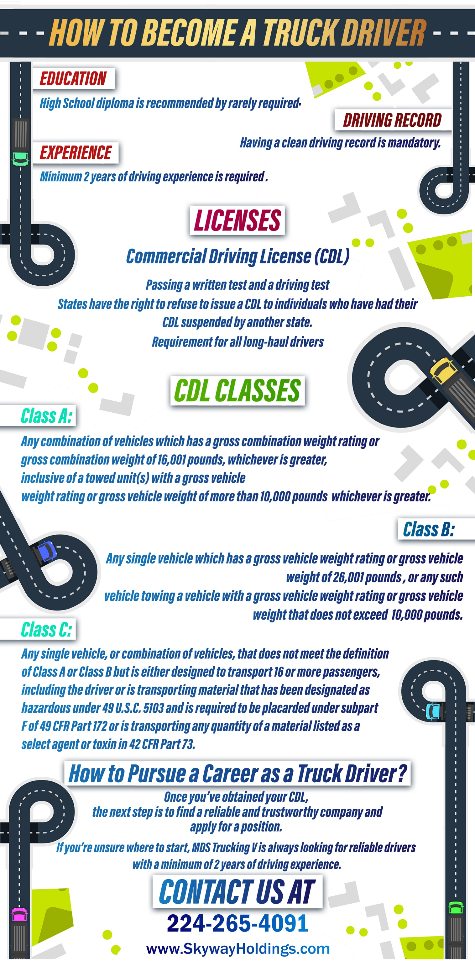 how to become a truck driver infographic